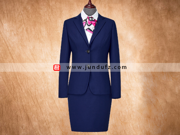 女深蓝色西服职业装套装