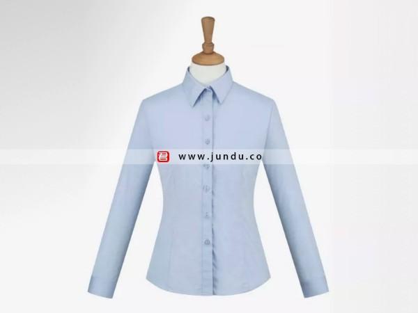 女士浅蓝长袖衬衫定制