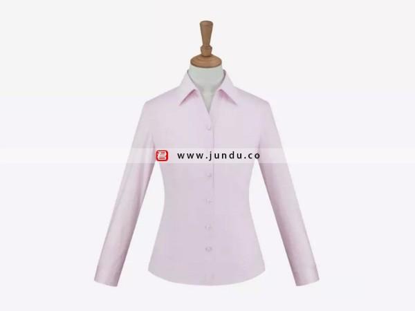 女士粉色长袖衬衫定制