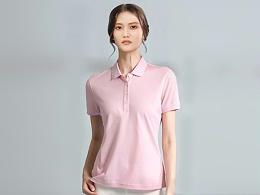粉色POLO衫广告团体衫定制-ZL0035