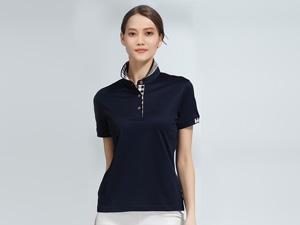 女士藏青色POLO衫广告团体衫定制