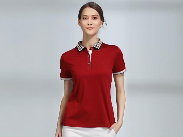 红色POLO衫广告团体衫定制-ZL0037