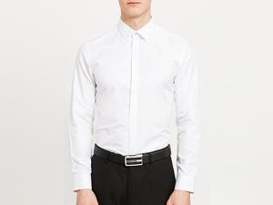 男白长袖衬衫定制