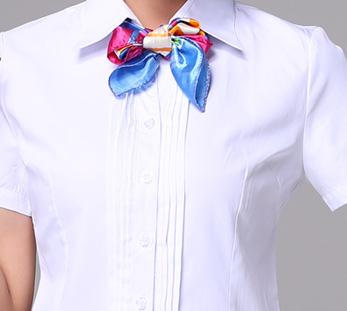 女士前台接待短袖衬衫职业装定制图片