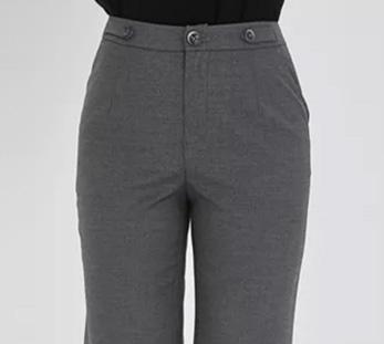 女士9分直筒裤细节展示