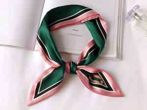 绿色时尚气质丝巾定制