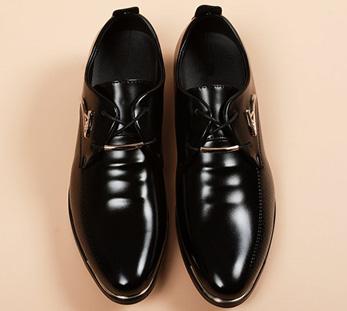 男士高端商务皮鞋定制图片