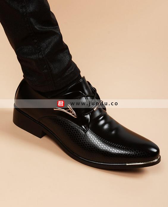 男士高端商务皮鞋定制展示图