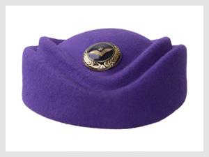 女士紫色职业装帽子定制