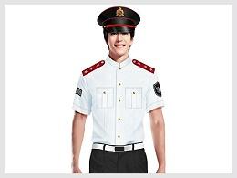 白色短袖衬衫物业管理安保服定制