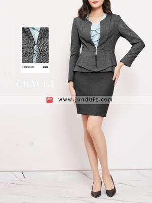 气质时尚修身高端西装三件套套裙定制