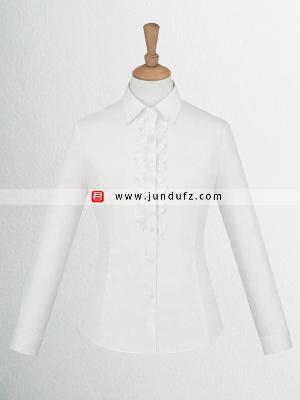 女士白色长袖衬衫定制